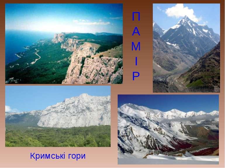 П А М І Р Кримські гори