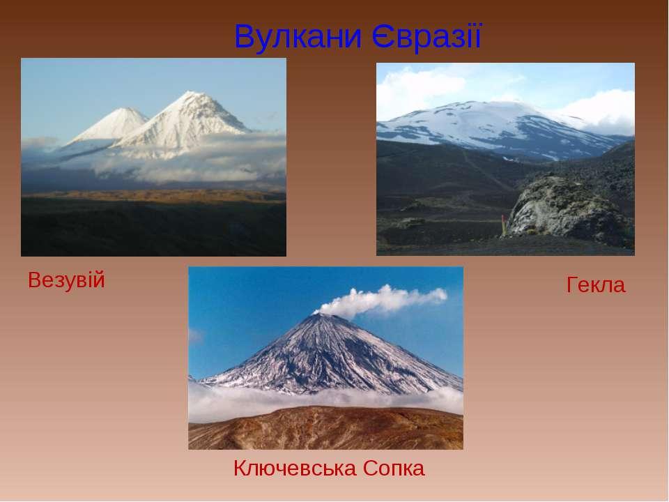 Вулкани Євразії Везувій Гекла Ключевська Сопка