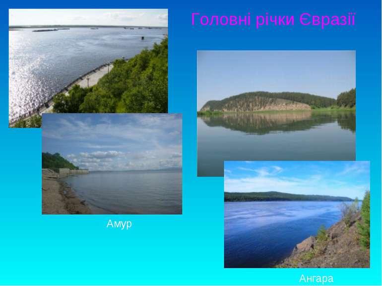 Головні річки Євразії Амур Ангара