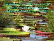 СВОЄРІДНІСТЬ ОРГАНІЧНОГО СВІТУ МАТЕРИКА. ПРИРОДНІ ЗОНИ. ВИСОТНА ПОЯСНІСТЬ В А...