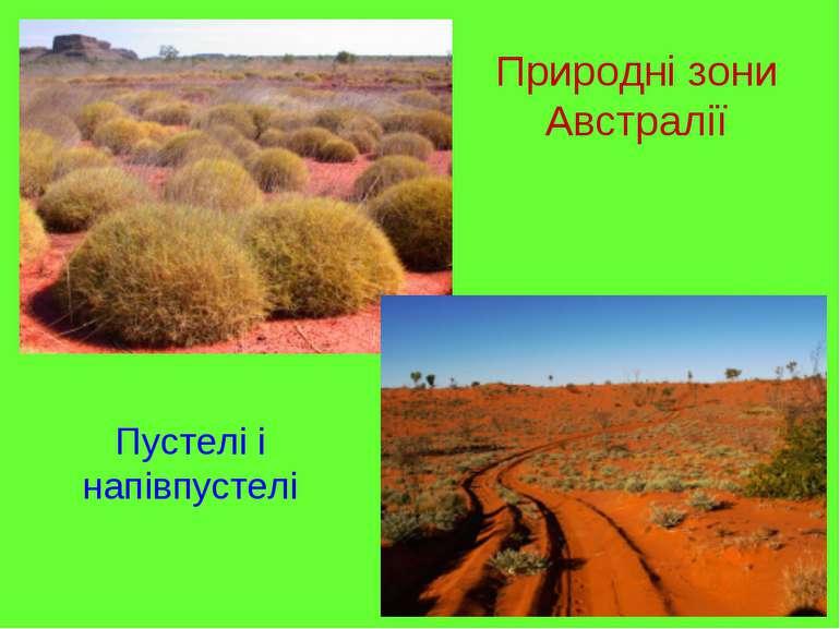 Природні зони Австралії Пустелі і напівпустелі