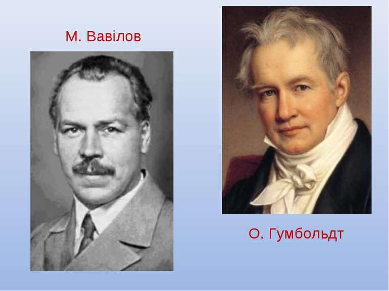 М. Вавілов О. Гумбольдт