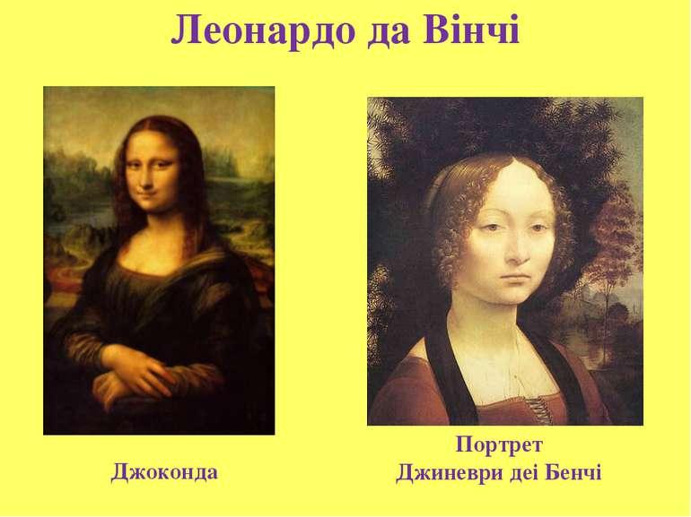 Леонардо да Вінчі Джоконда Портрет Джиневри деі Бенчі