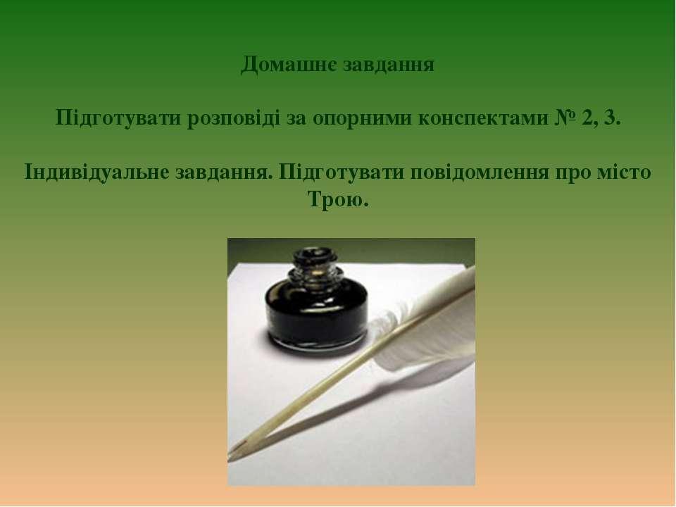 Домашнє завдання Підготувати розповіді за опорними конспектами № 2, 3. Індиві...