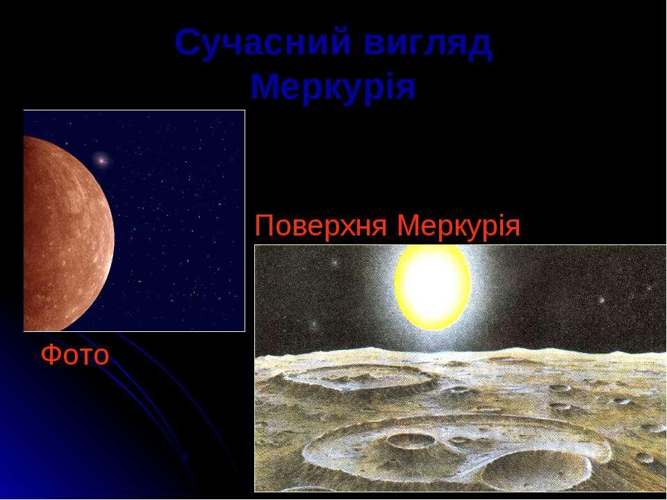 Сучасний вигляд Меркурія Поверхня Меркурія Фото
