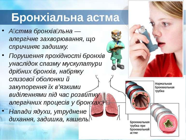 картинки памятка по бронхиальной астме
