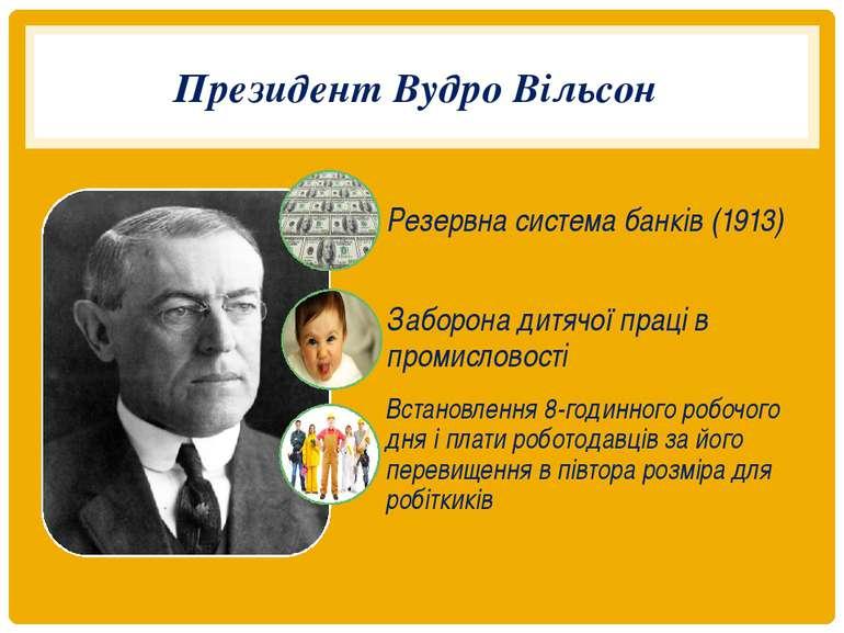 Президент Вудро Вільсон