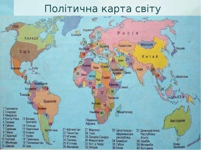 Політична карта світу