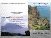 залишки вулканічної діяльності Гора Аюдаг Масив Карадаг Стародавній згаслий в...