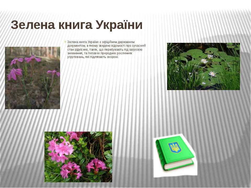 Зелена книга України Зелена книга України є офіційним державним документом, в...
