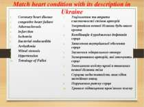 Match heart condition with its description in Ukraine Coronary heart disease ...