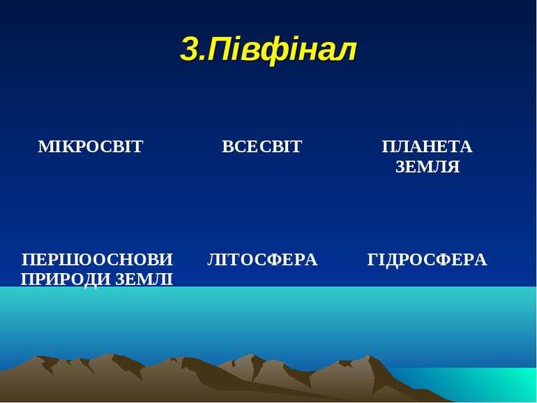 3.Півфінал