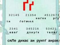 Ґґ 3 2 1 4 5 2 1 3 5 4 4 5 1 2 6 7 3 н а ґ о к р ґ у т н ґ о ґ еч е л 2 3 4 1...