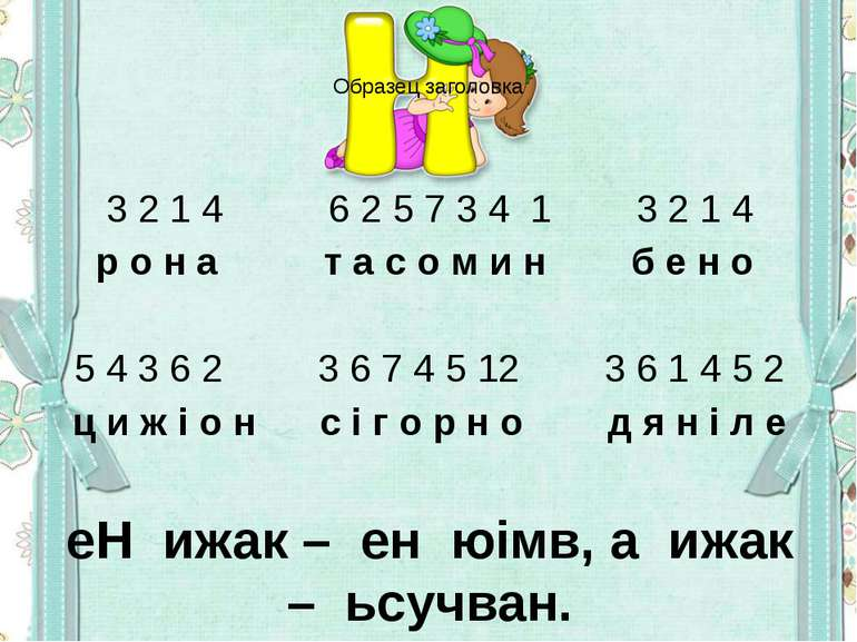 3 2 1 4 6 2 5 7 3 4 1 3 2 1 4 р о н а т а с о м и н б е н о 5 4 3 6 2 3 6 7 4...
