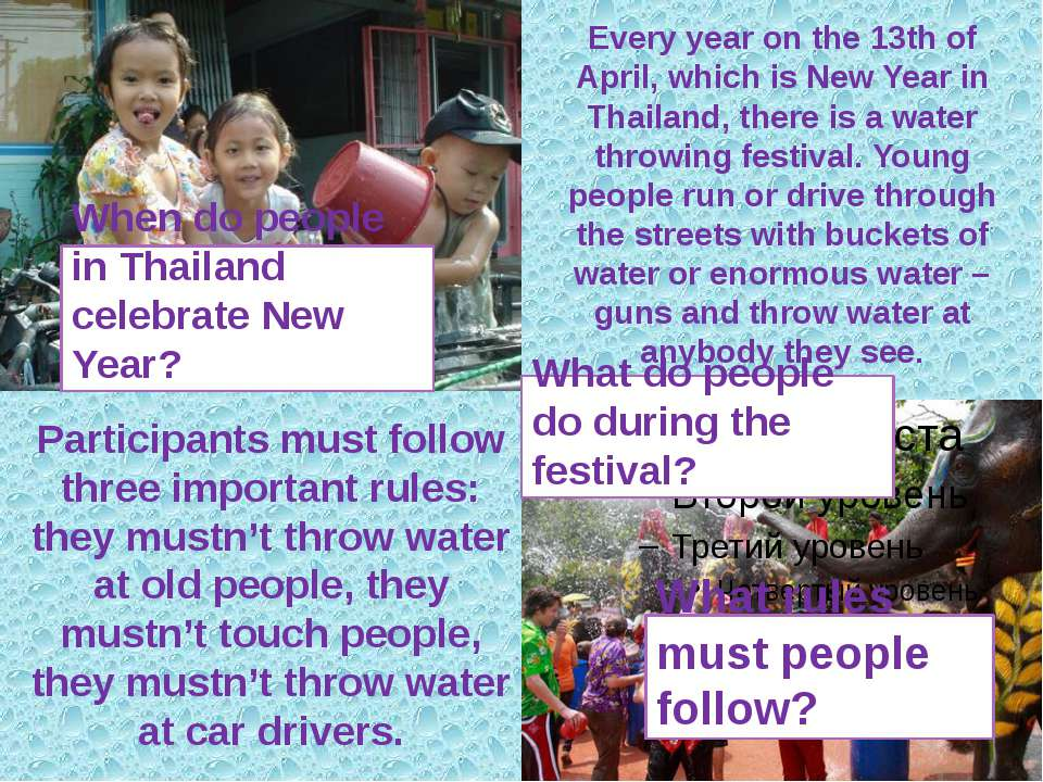 Every year on the 13th of April, which is New Year in Thailand, there is a wa...