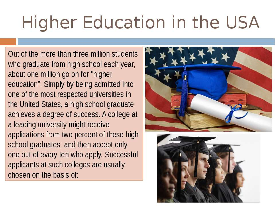 education in the united states 2 essay American education system essayspeople come to united states from all over the world to get a better education although this seems to demonstrate the success of the american education system, i believe that considering education as a marketable product for a long time has had a key role in the succ.