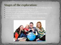 Stages of the exploration: General information on the program of the cultural...