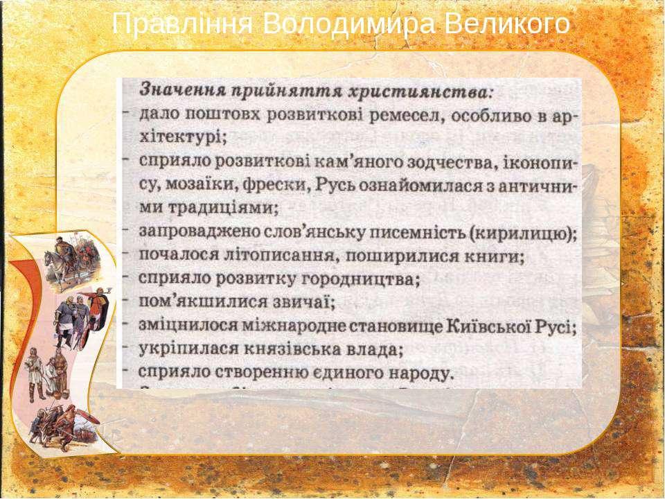 Правління Володимира Великого