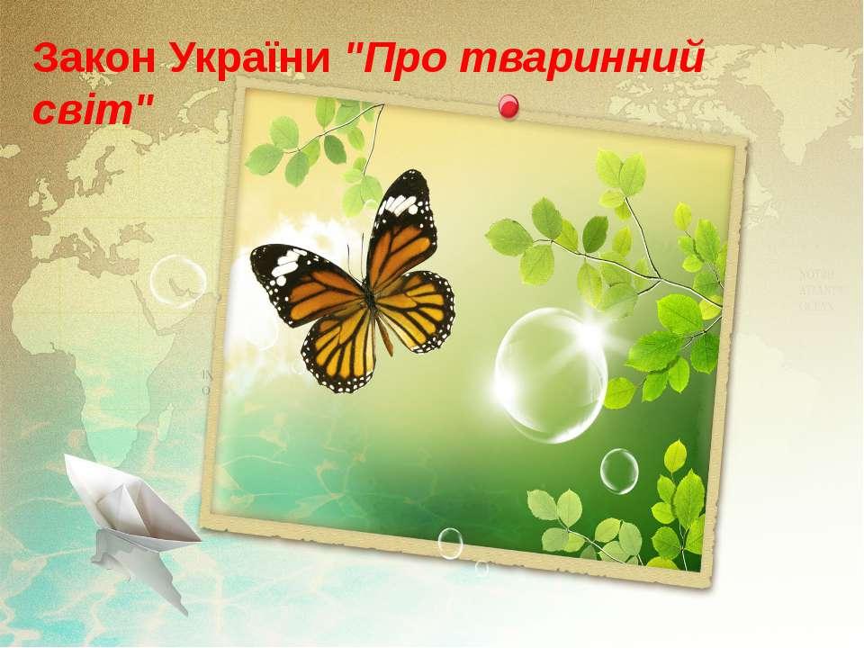 """Закон України""""Про тваринний світ"""""""