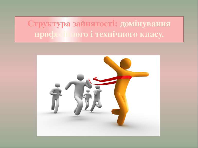 Структура зайнятості: домінування професійного і технічного класу.