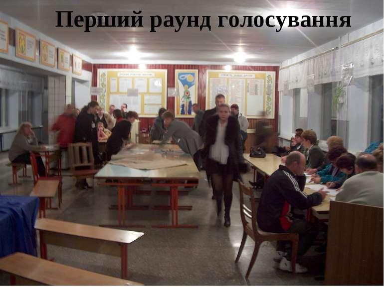 Перший раунд голосування