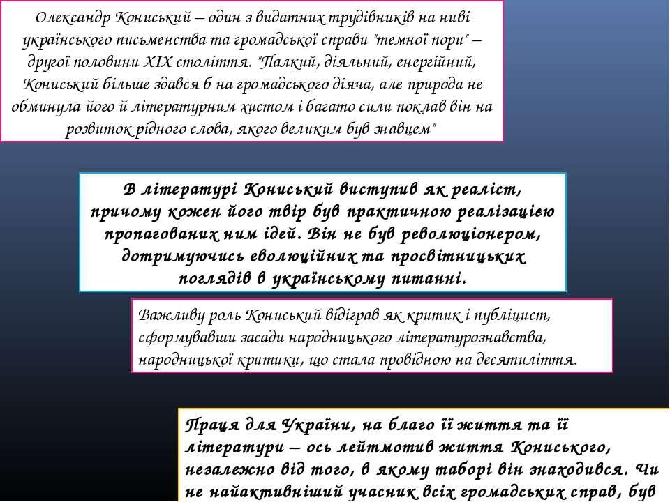 Олександр Кониський – один з видатних трудівників на ниві українського письме...