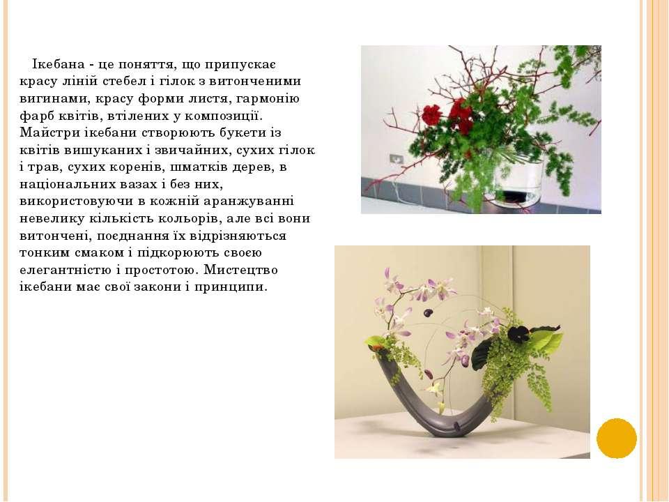 Ікебана - це поняття, що припускає красу ліній стебел і гілок з витонченими в...