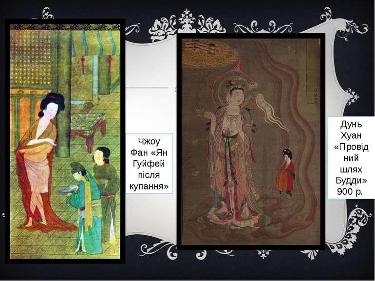Чжоу Фан «Ян Гуйфей після купання» Дунь Хуан «Провідний шлях Будди» 900 р.