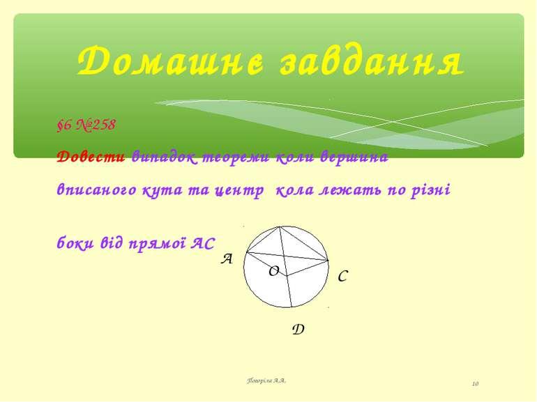Домашнє завдання Погоріла А,А, * §6 № 258 Довести випадок теореми коли вершин...