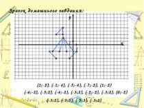 Зразок домашнього завдання: (1;-2), (-1;-4), (-5;-4), (-7;-2), (1;-2) (-6;-2)...