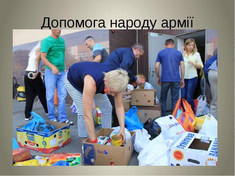 Допомога народу армії