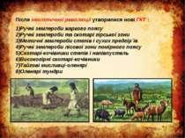 Після неолітичної революції утворилися нові ГКТ : Ручні землероби жаркого поя...