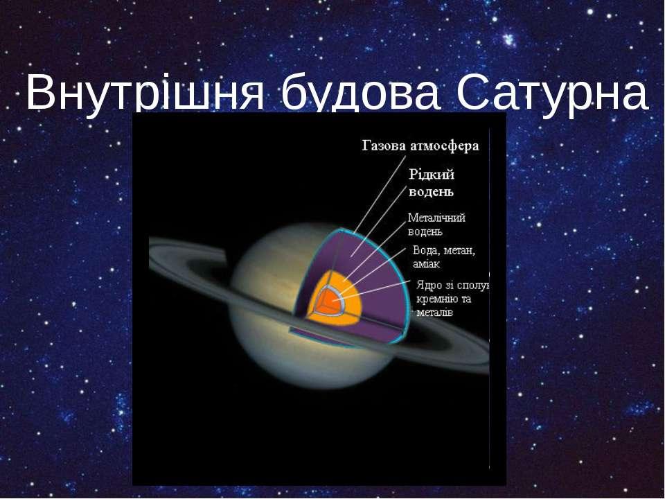 Внутрішня будова Сатурна