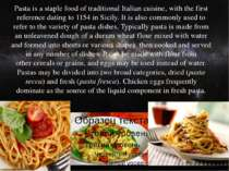 Pastais astaple foodof traditionalItalian cuisine, with the first referen...