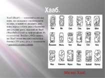 Хааб. Хааб (Haab')— сонячний календар майя, що складався з вісімнадцяти міся...