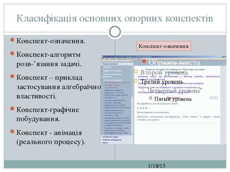 Класифікація основних опорних конспектів СЗОШ № 8 м.Хмельницького. Кравчук Г....