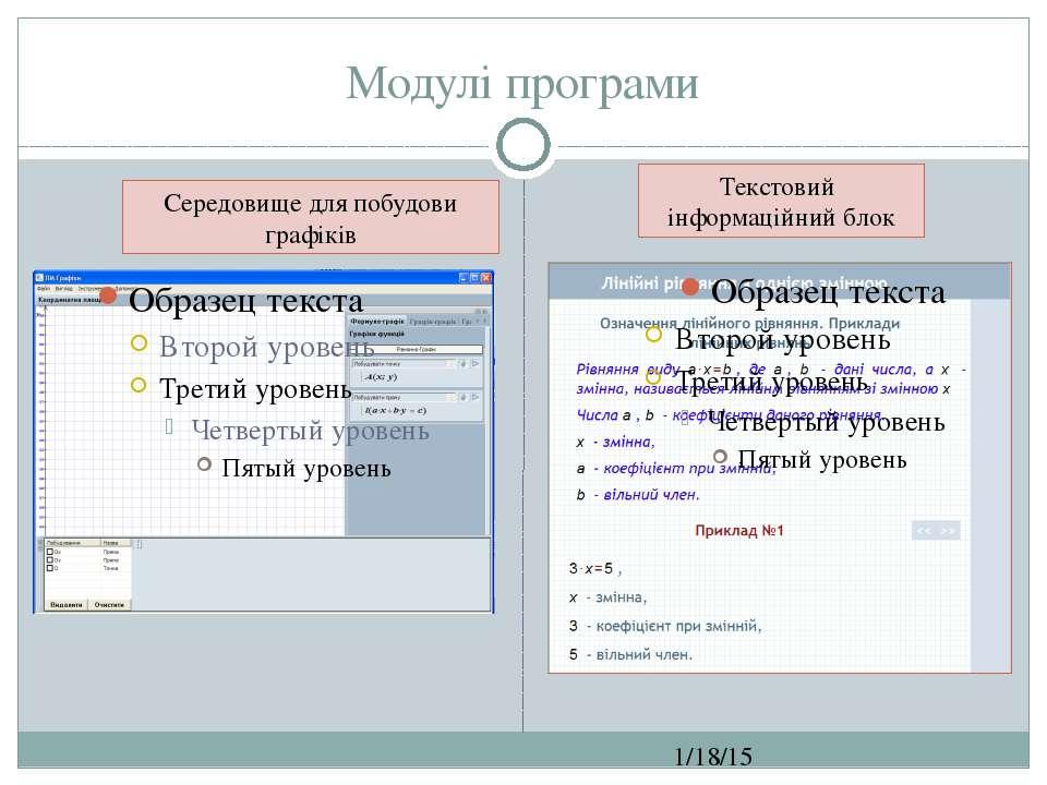Модулі програми СЗОШ № 8 м.Хмельницького. Кравчук Г.Т. Середовище для побудов...