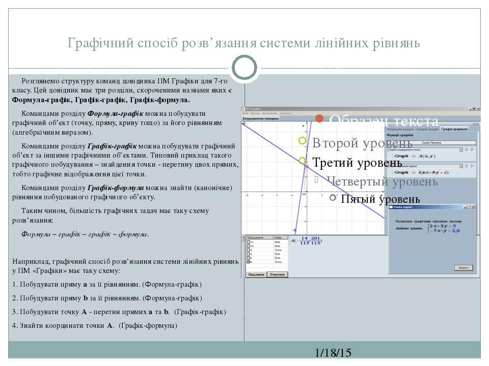 Графічний спосіб розв'язання системи лінійних рівнянь СЗОШ № 8 м.Хмельницьког...