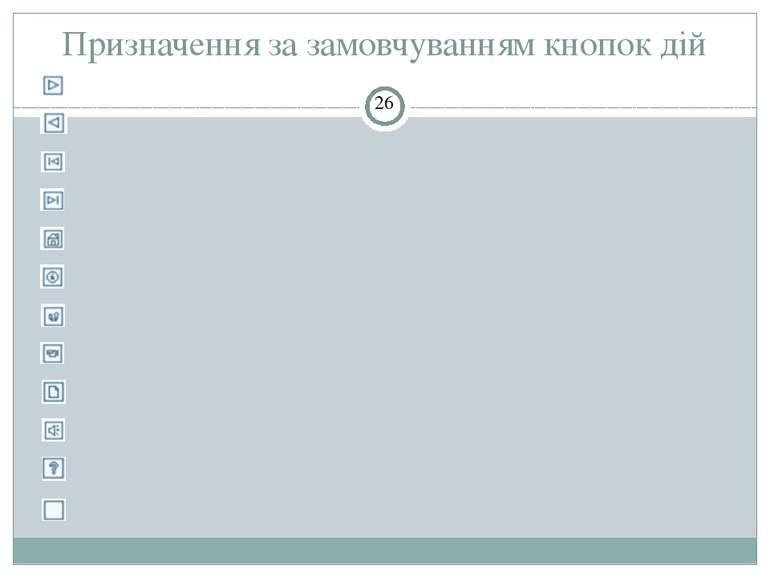 Розміщення певної кнопки дії на слайді СЗОШ № 8 м.Хмельницького. Кравчук Г.Т....