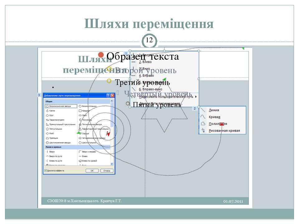 Застосування кількох ефектів анімації СЗОШ № 8 м.Хмельницького. Кравчук Г.Т. ...