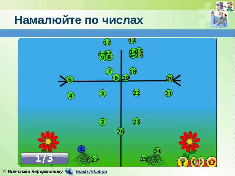 Намалюйте по числах © Вивчаємо інформатику teach-inf.at.ua