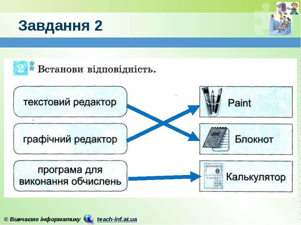 Завдання 2 © Вивчаємо інформатику teach-inf.at.ua