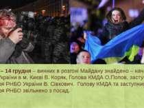 День 24 – 14 грудня– винних в розгоні Майдану знайдено – начальник ГУМВС Укр...
