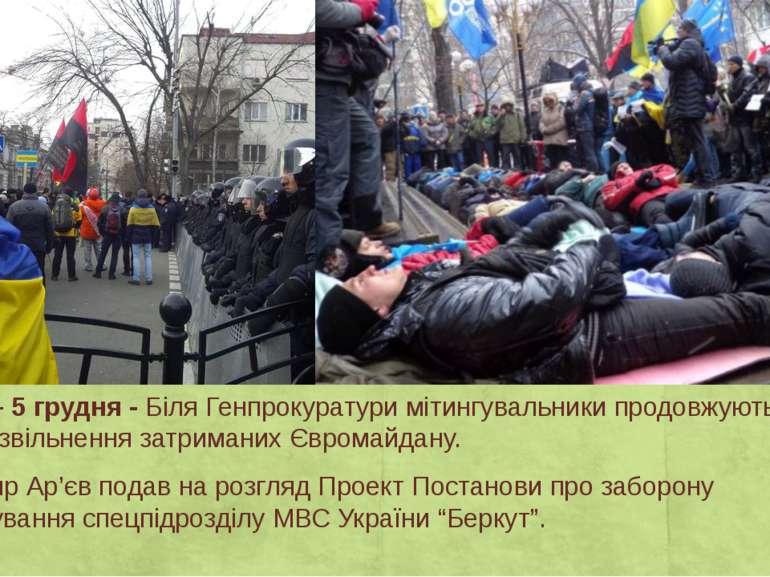 День15 – 5грудня-Біля Генпрокуратури мітингувальники продовжують вимагати...