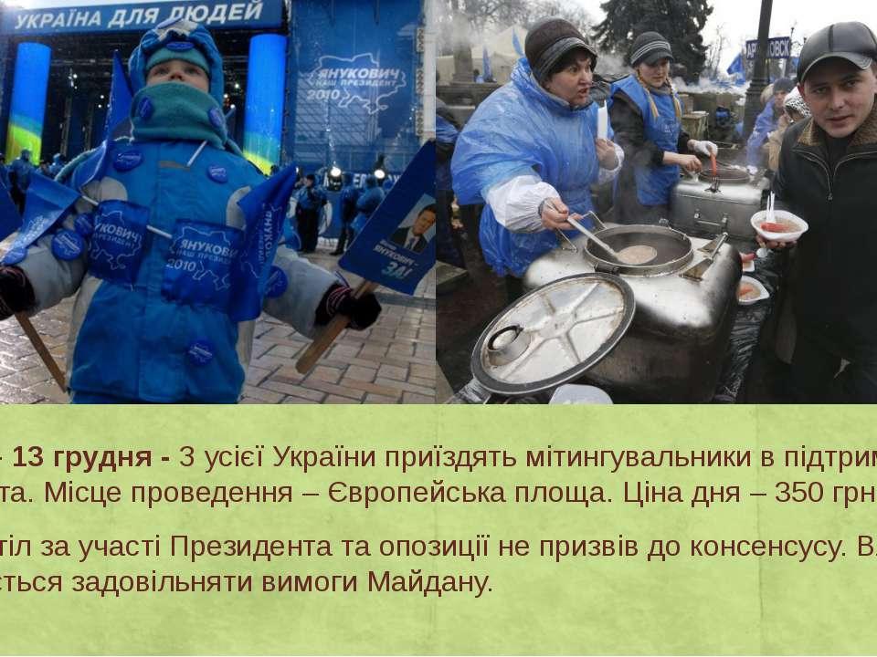 День 23 – 13 грудня -З усієї України приїздять мітингувальники в підтримку П...
