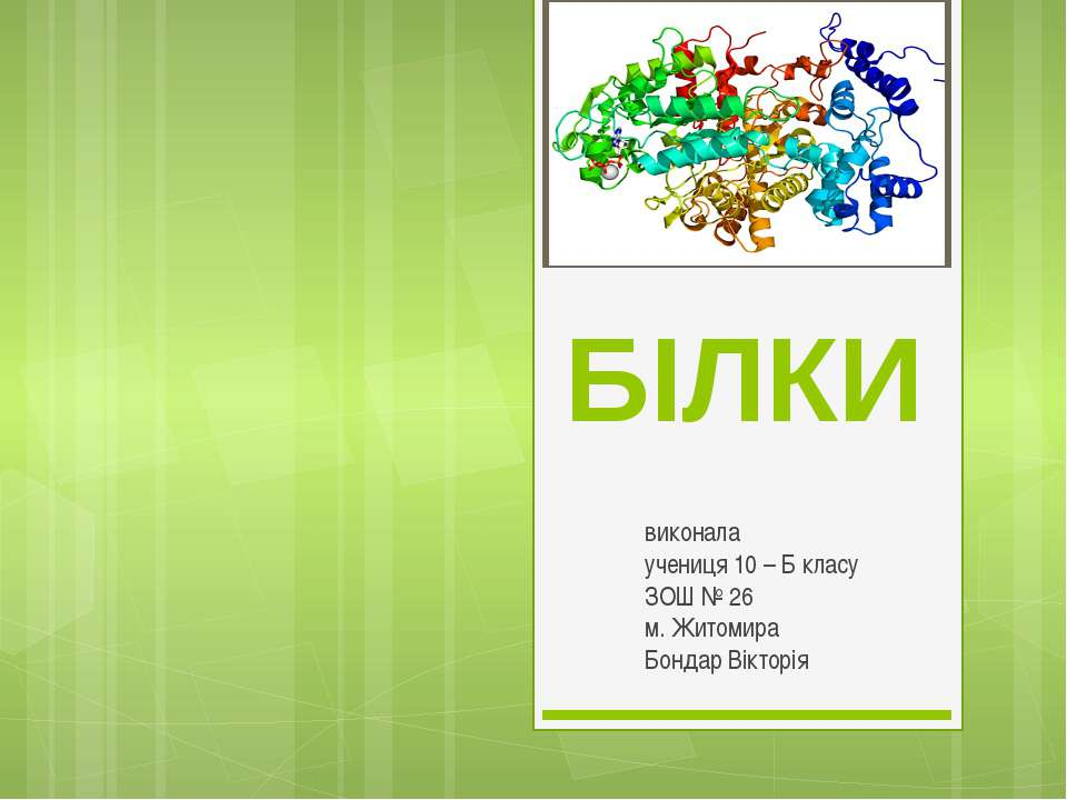 БІЛКИ виконала учениця 10 – Б класу ЗОШ № 26 м. Житомира Бондар Вікторія