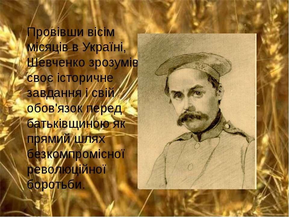 Провівши вісім місяців в Україні, Шевченко зрозумів своє історичне завдання і...