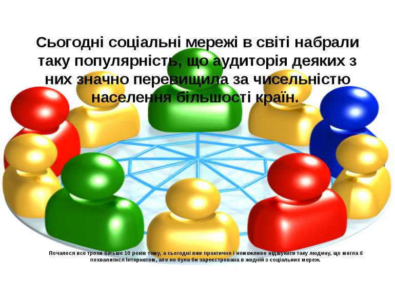 Сьогодні соціальні мережі в світі набрали таку популярність, що аудиторія дея...