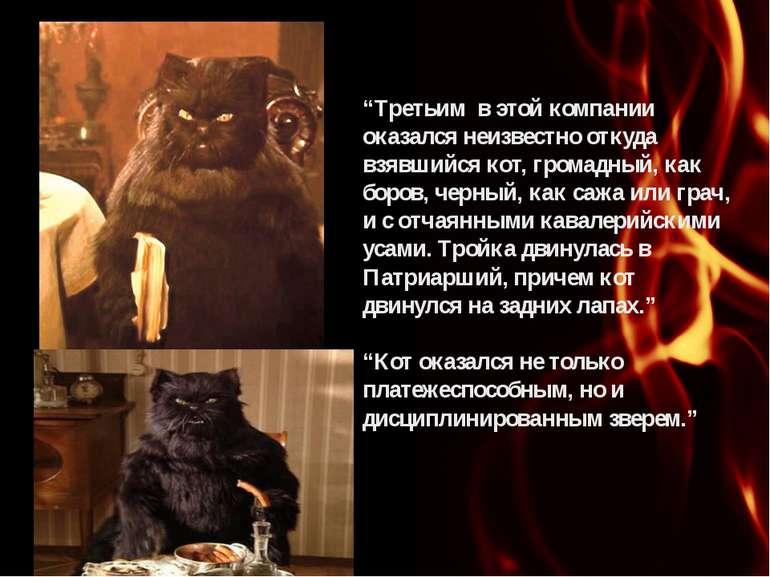 """""""Третьим в этой компании оказался неизвестно откуда взявшийся кот, громадный,..."""