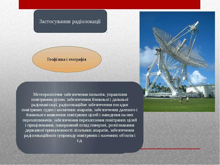 Застосування радіолокації Визначення структури землекористування, розподіл і ...